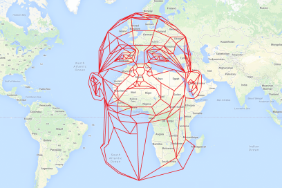 Design Antics Rooney's Head Over Africa, Google Maps