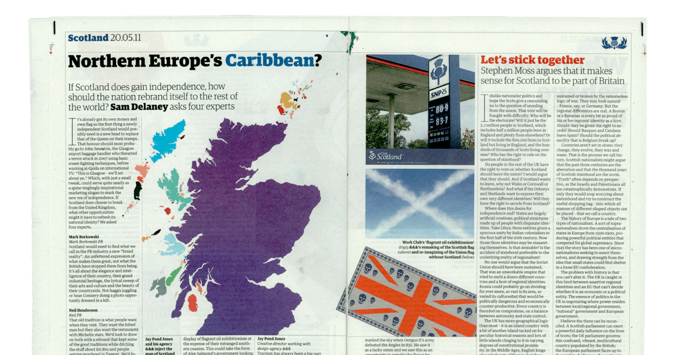 The Guardian: Scotland Rebrand