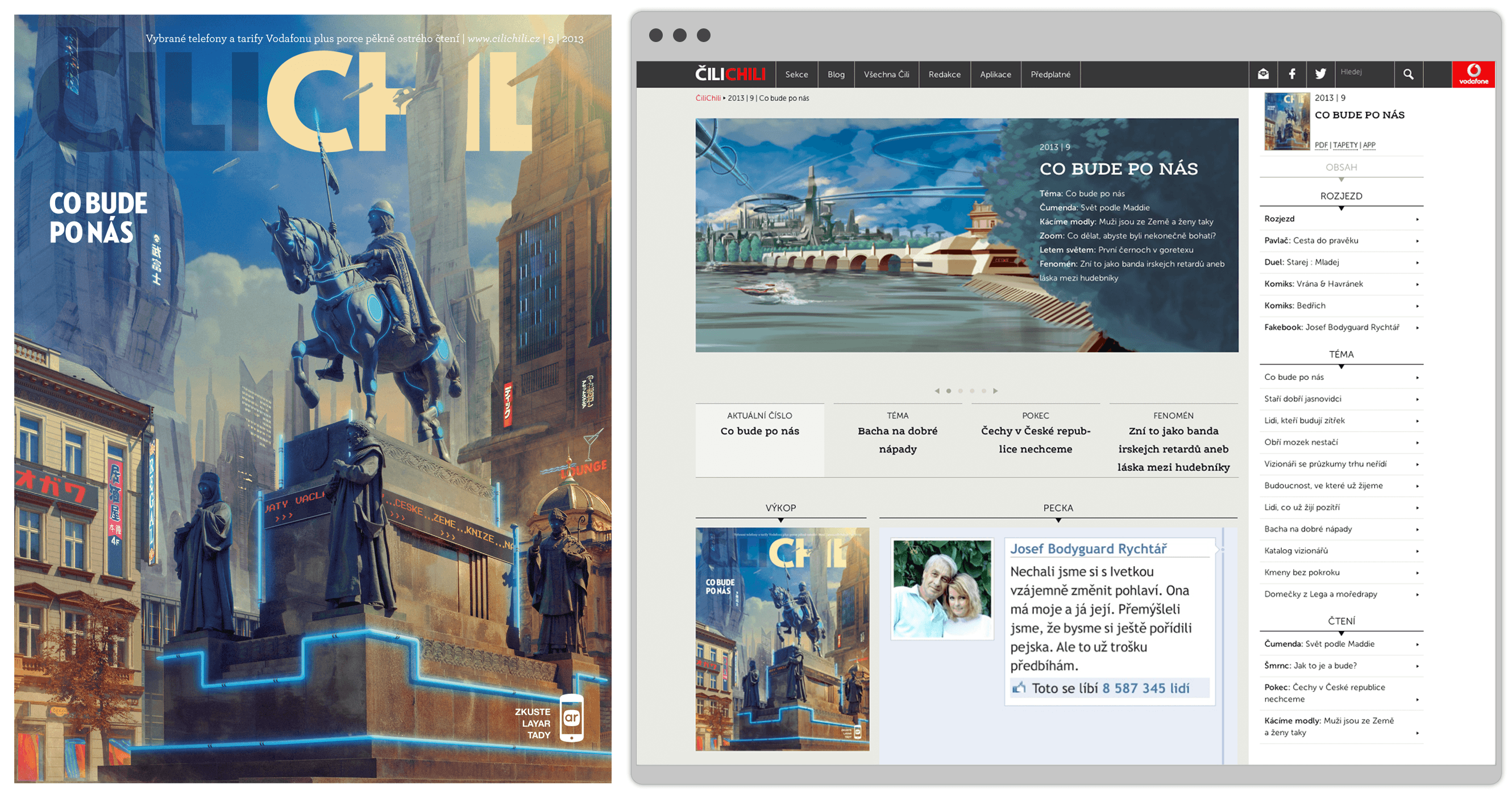 Transforming Vodafone's customer magazine Cilichili into an online mobile ambassador