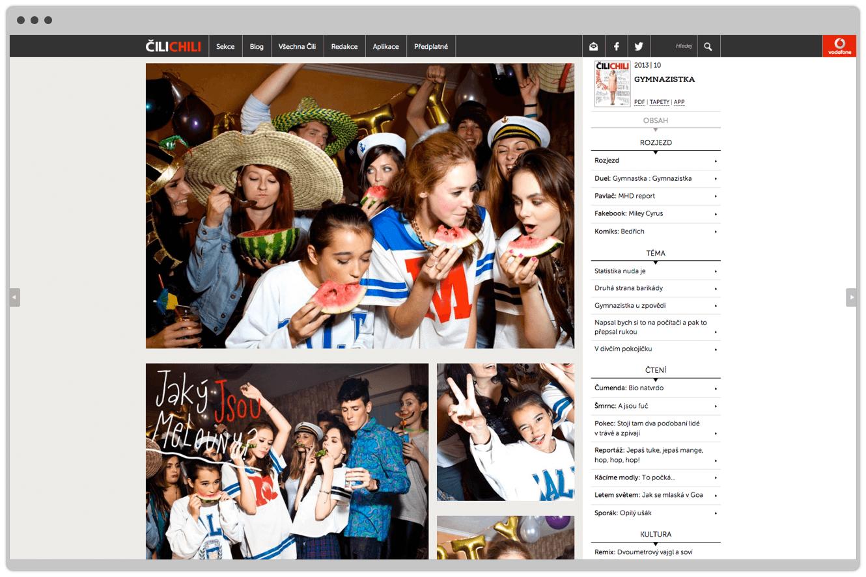 Desktop View Of Website Design For Cilichili Magazine, Vodafone, Website Design By &&& Creative
