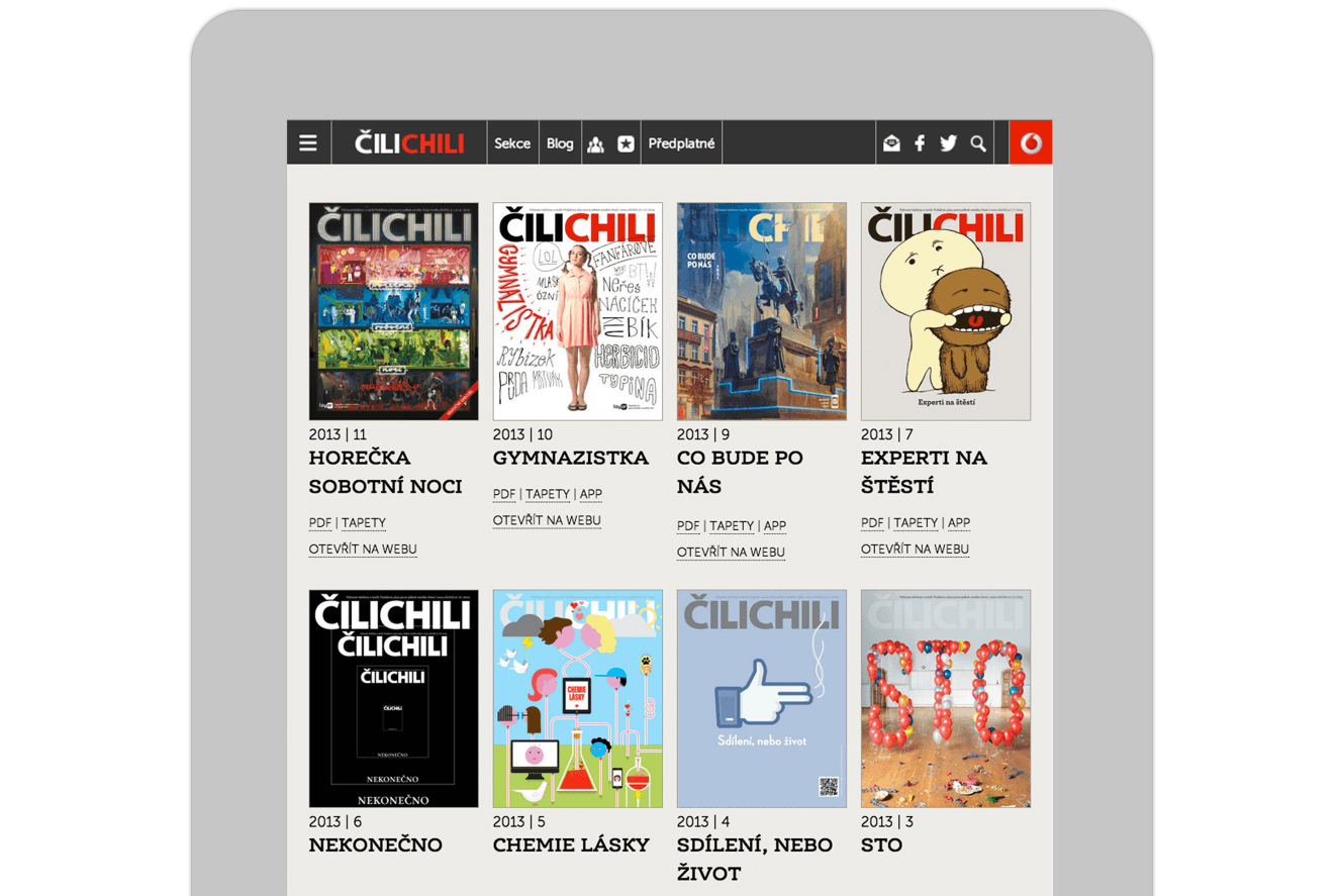 Ipad Website Design For Cilichili Magazine, Vodafone, Website Design By &&& Creative