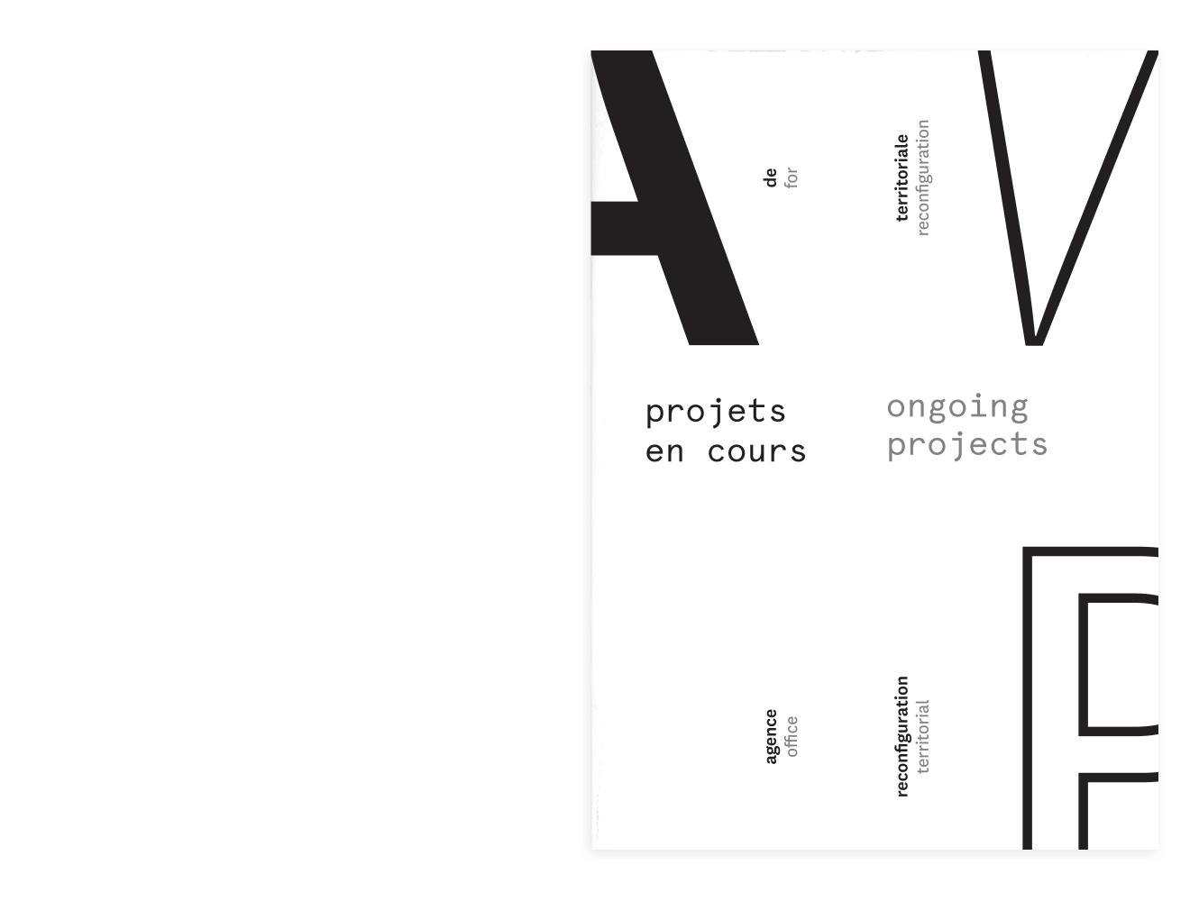 Book Cover Design For Architectural Practise AWP By &&& Creative