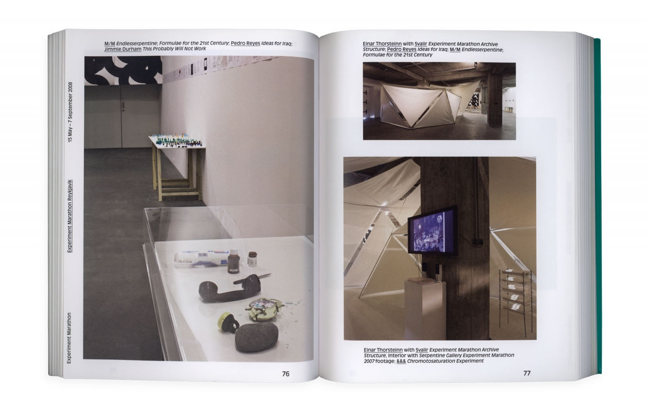 Hans Ulrich Obrist's & Olafur Ellisan Experiment Marathon Book Showcasing The Work Of &&& Creative