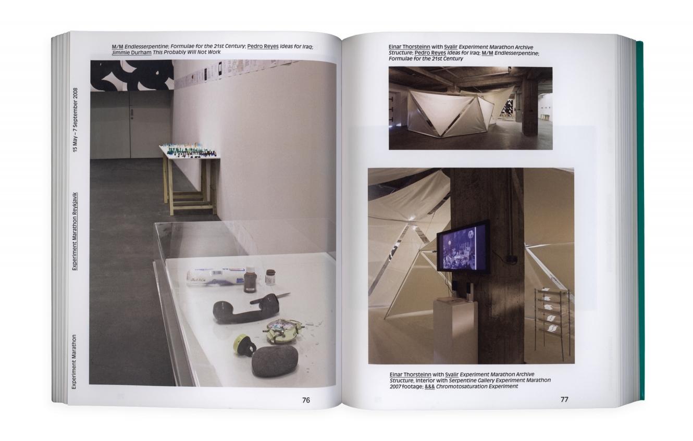 Hans Ulrich Obrist's & Olafur Ellisan Experiment Marathon Book Showcasing The Work Of &&& Creative