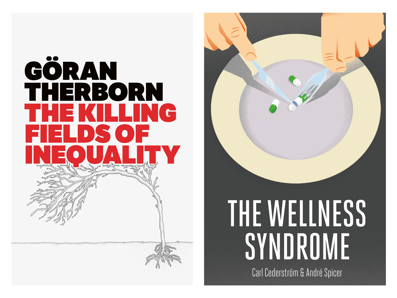 Book Cover Design For The Killing Fields Of Inequality And The Wellness Syndrome By Polity Books. Designed By &&& Creative