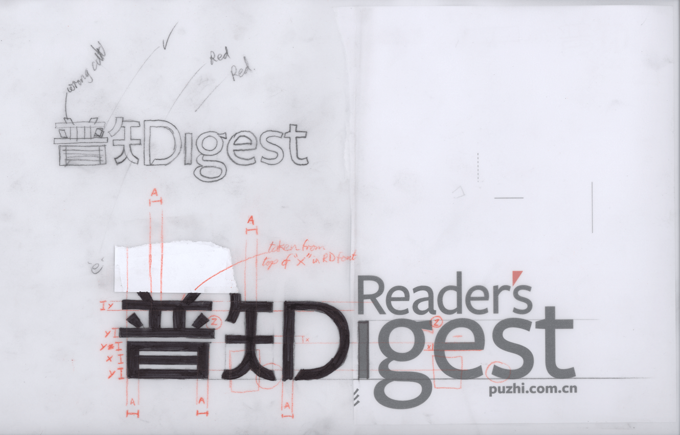 Puzhi Logo For Reader's Digest In China Designed By &&& Creative
