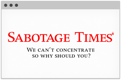 Logotype For Sabotage Times Designed By &&& Creative