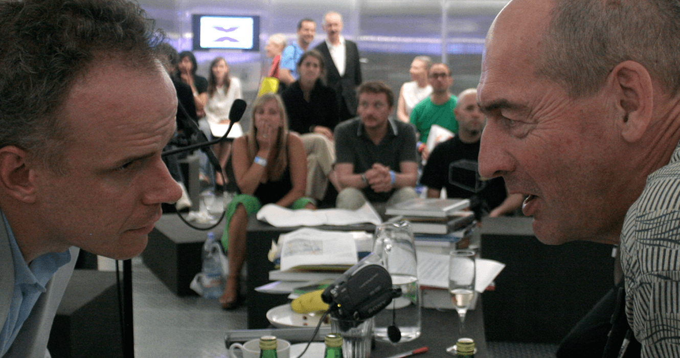Designing the format for the 24-hr 'Marathon of Interviews'  by Hans Ulrich Obrist x Rem Koolhaas