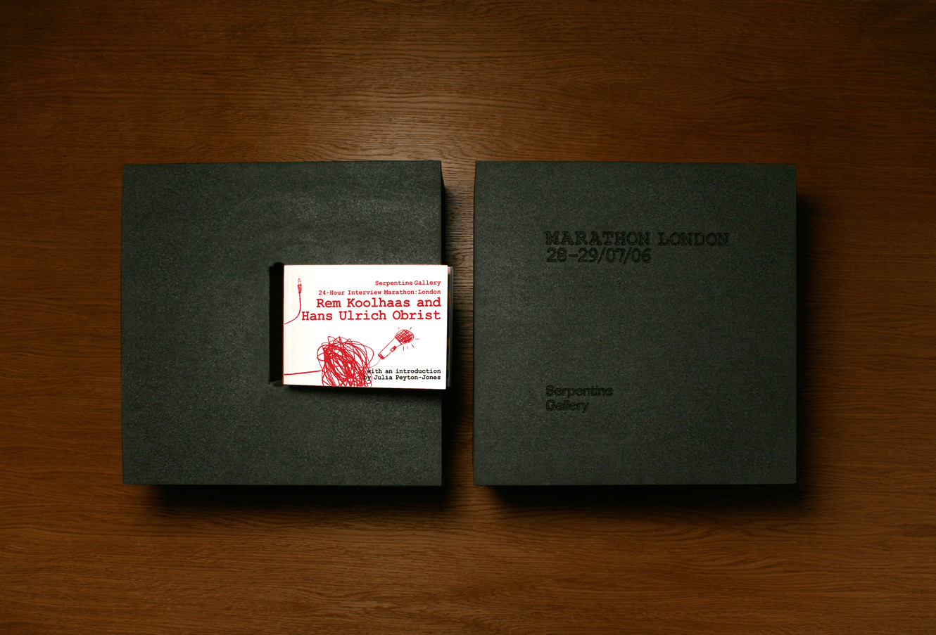 Interview Marathon Book And Cover Design For The Serpentine Gallery Designed By &&& Creative