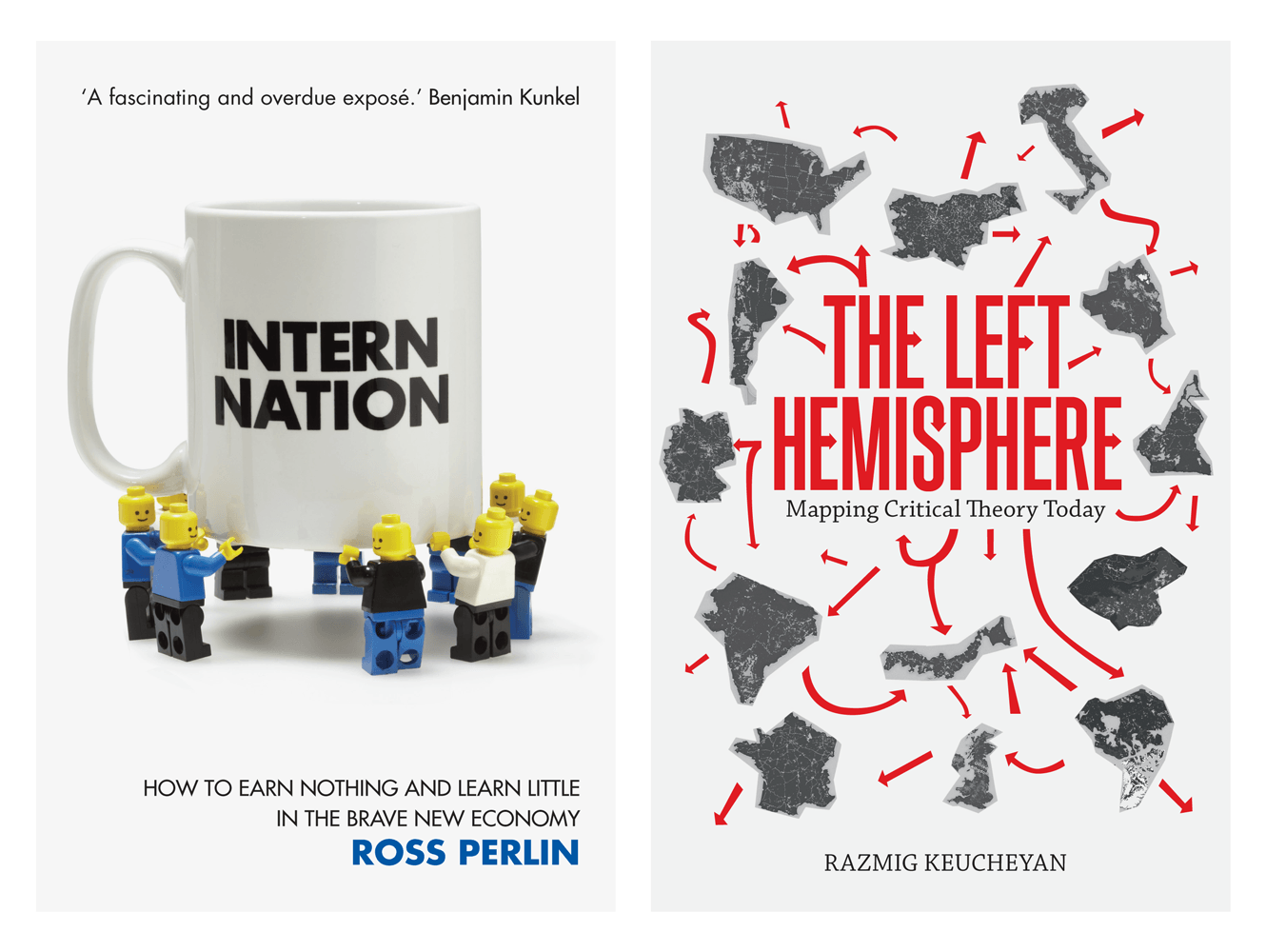 Book Cover Designs For Verso Books. Designed By &&& Creative