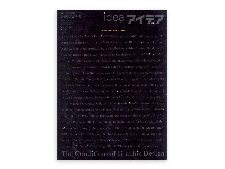 Idea Magazine 315 The Conditions Of Graphic Design