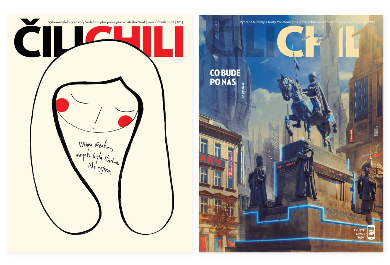 Cilichili Magazine Cover Designs By &&& Creative: Depression And Future Issues