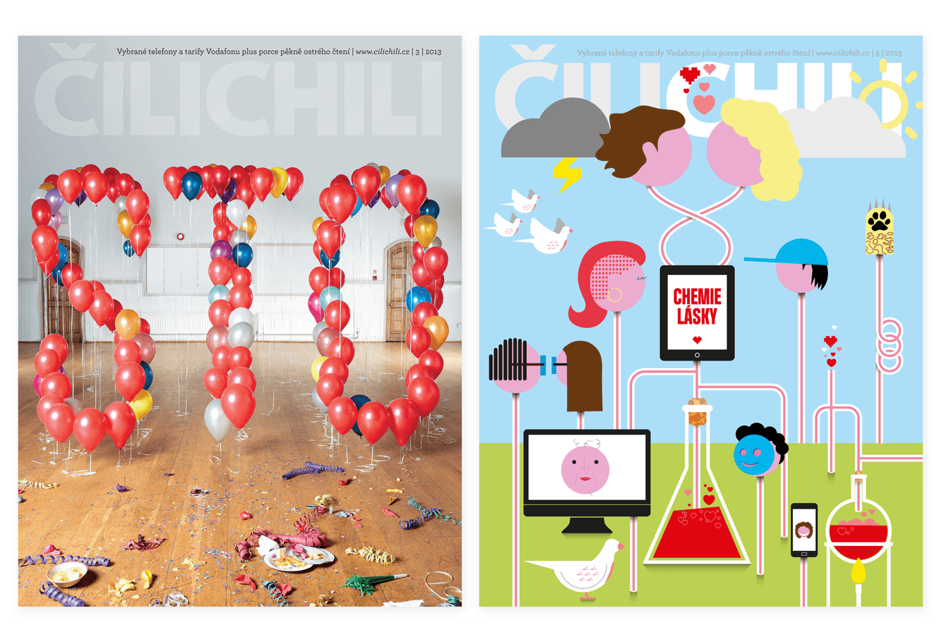 Cilichili Magazine Cover Designs By &&& Creative: 100th Issue And Online Love Issue