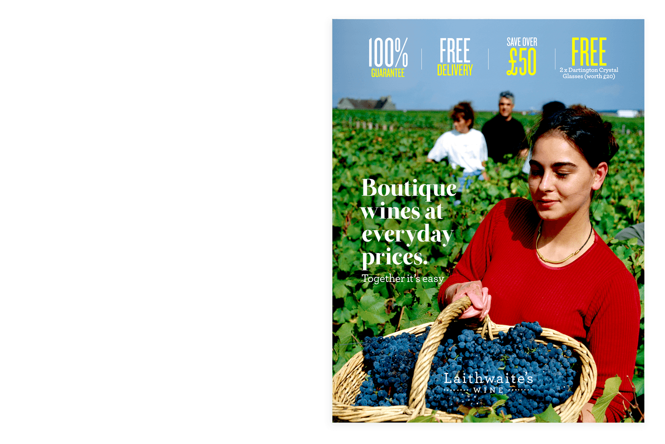 Wine Plan Direct Marketing Cover Design For Laithwaite's Wines By &&& Creative