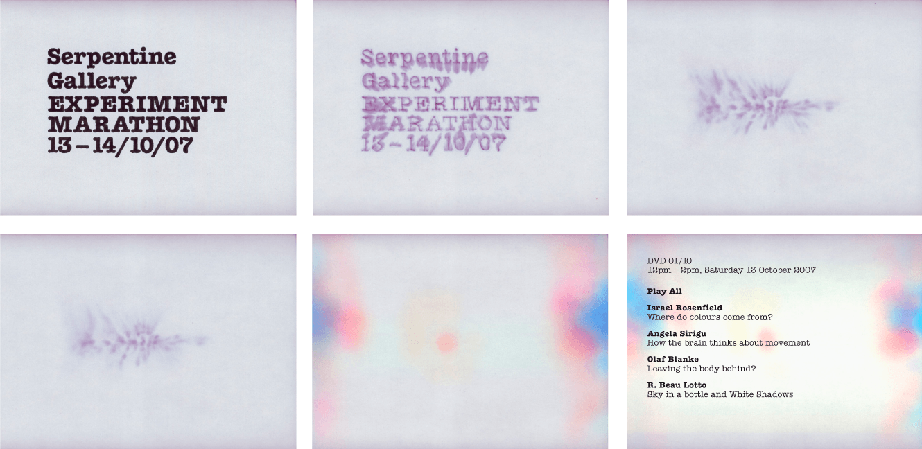 Scans Of The Individual Pages From Title Sequence For The Serpentine Galleries Designed By &&& Creative