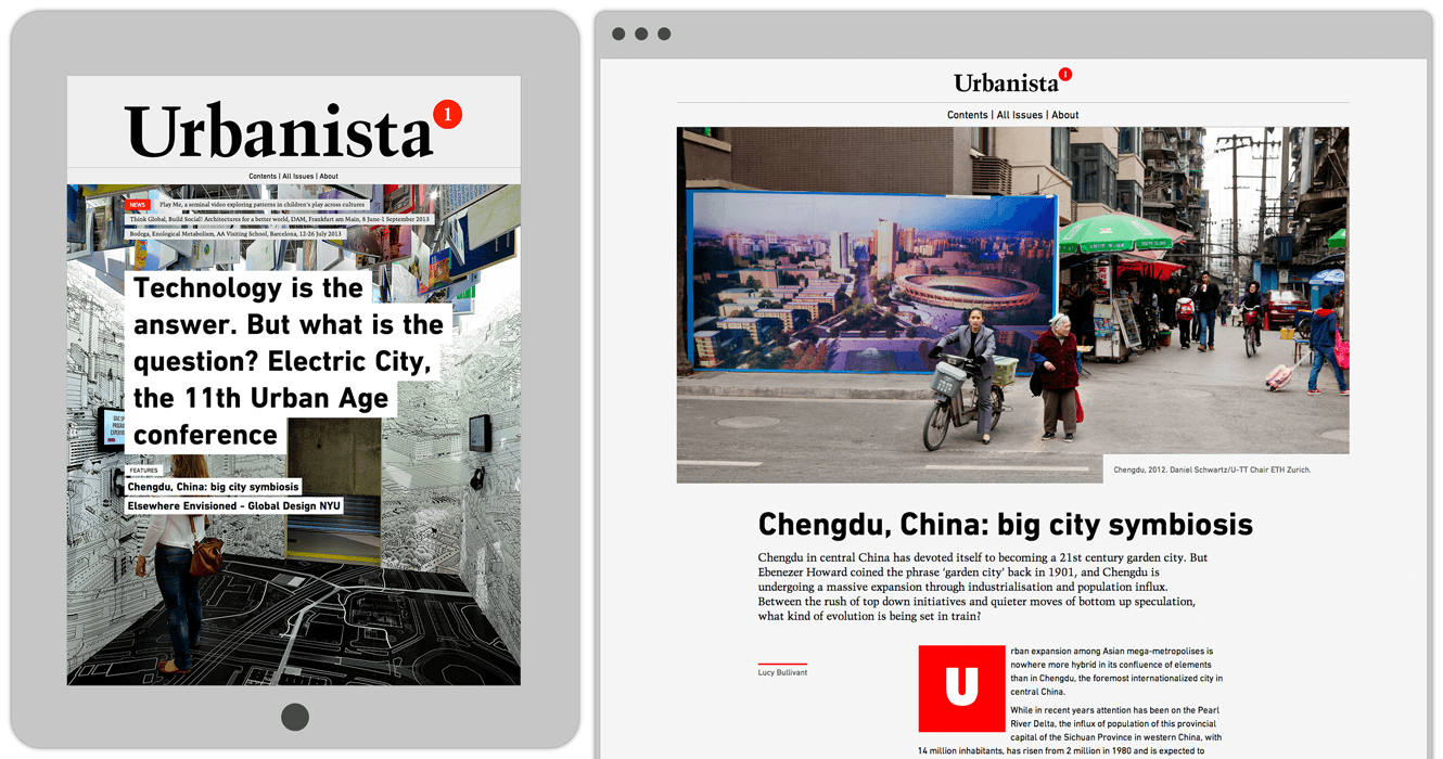 The new webzine of critical perspectives on contemporary urbanism, Urbanista.org