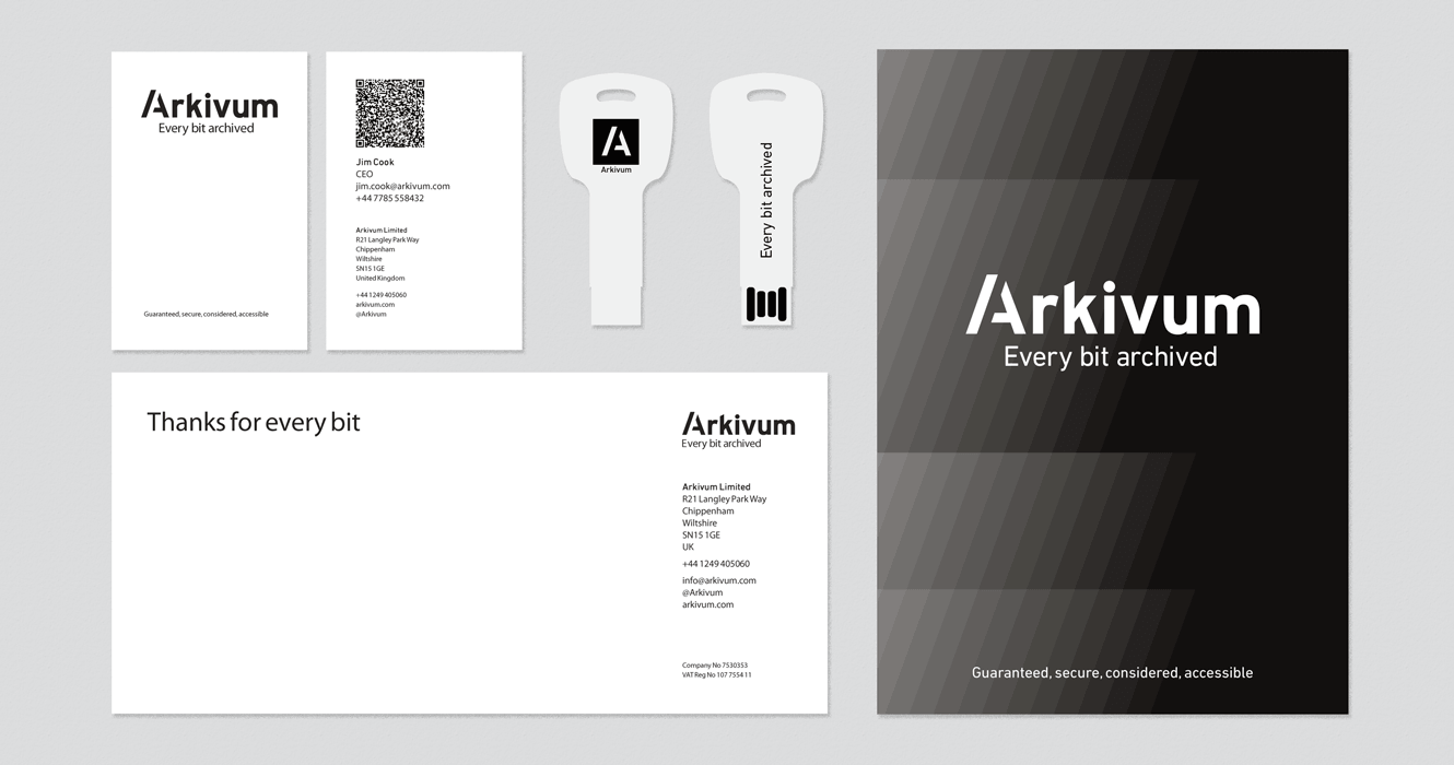 Stationery Designed For Arkivum Ltd