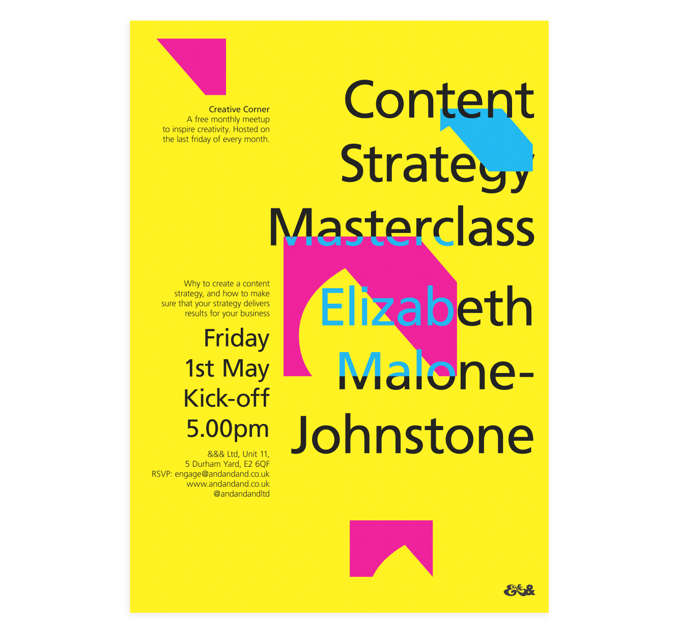 Creative Corner Poster   Content Strategy Masterclass