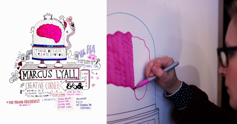 Tilly Aka Running For Crayons   Live Illustration