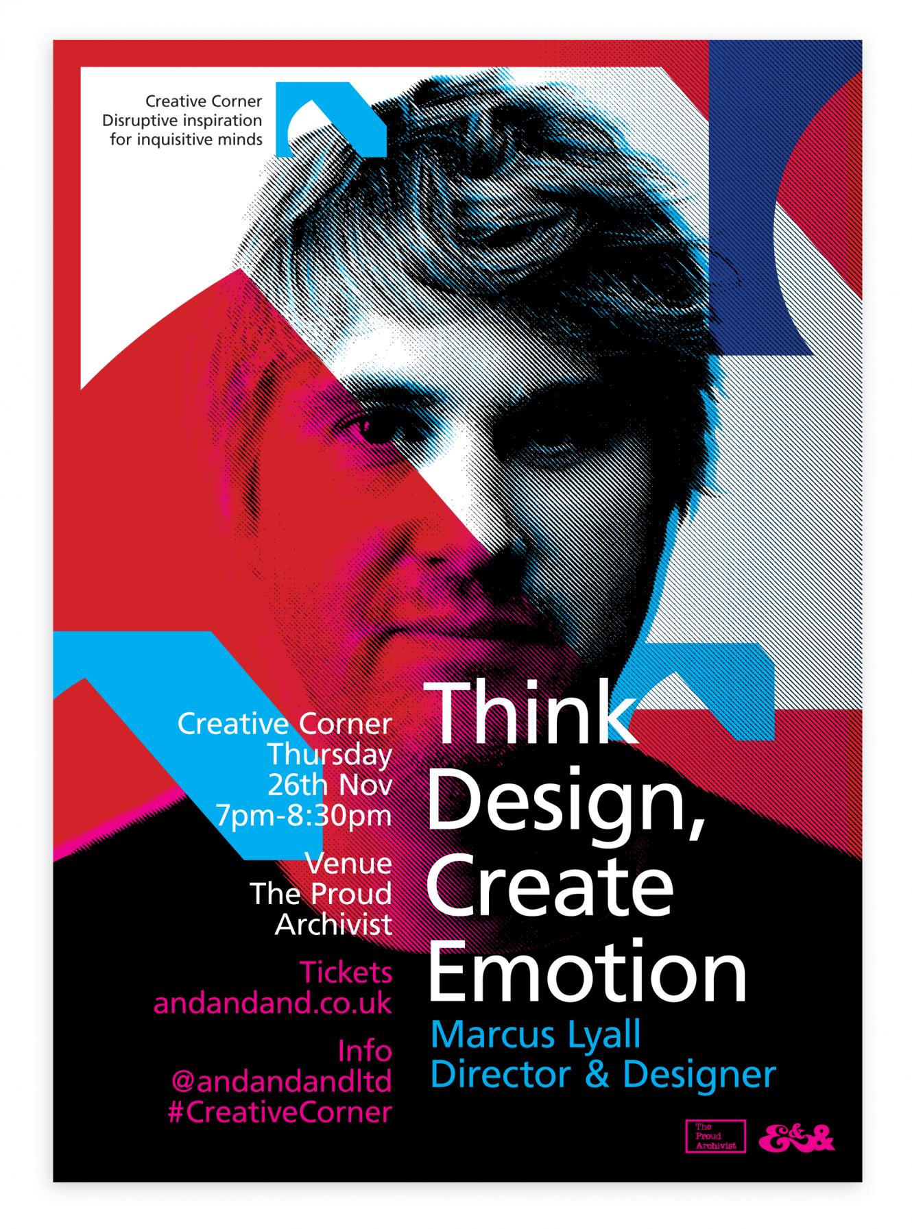 Creative Corner Poster: Think Design, Create Emotion
